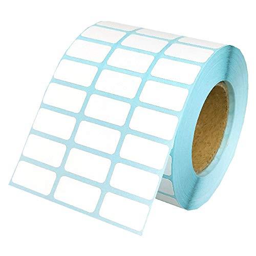 Prosperveil - Rollo de etiquetas adhesivas, autoadhesivas, impermeables, extraíbles, para congelador, tarros, impresoras, etiquetas de nombre, dirección, fecha, 20 x 10 mm, color 10000 unidades.