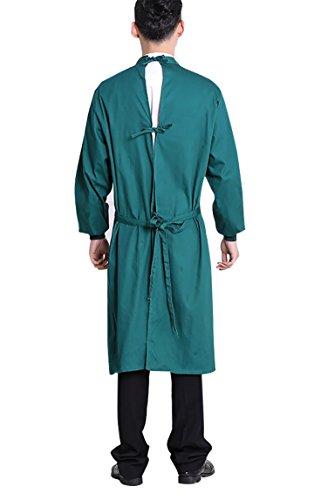 Nanxson Unisex Herren Frauen Operationskittel Lab Medizin Uniform Arbeitskleidung ME0002 (Grün, S) - 2