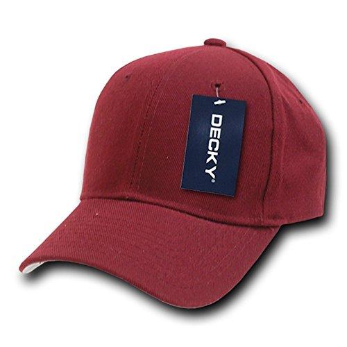 Decky Fitted - Gorra para Hombre, Color Granate, Talla Size...