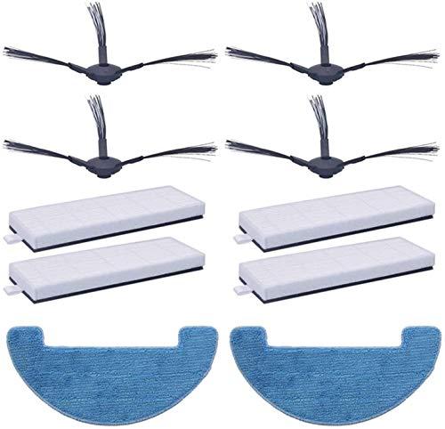 Recambios de aspiradora cepillo lateral + HEPA + trapo de fregona para Polaris Pvcr 1126 W 0826 Robot Partes de aspirador repuesto filtro de repuesto para aspiradoras piezas (Co
