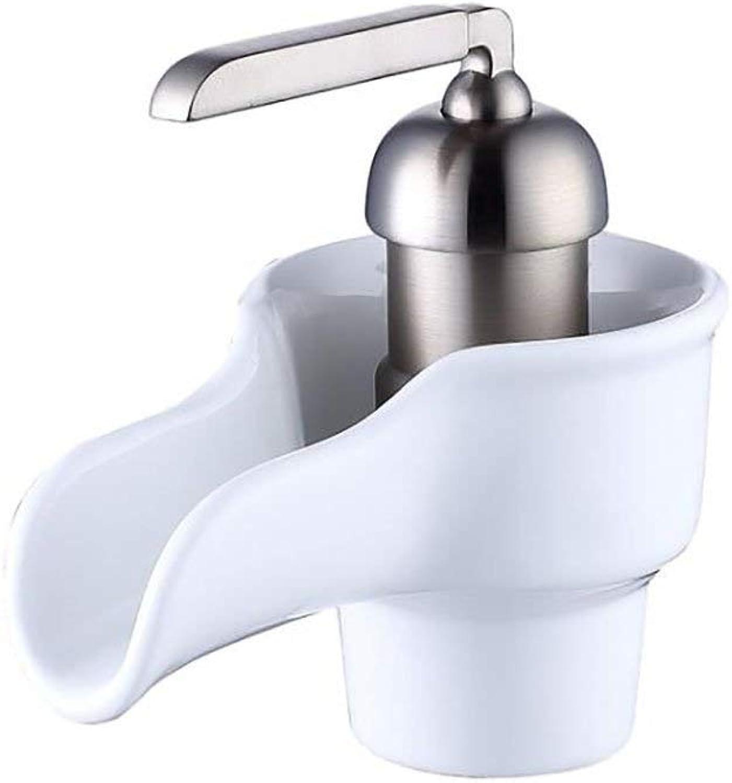 MXYXN l rieb Bronze Wasserfall kommerziellen weit verbreiteten Waschbecken Wasserhahn (Farbe   Silber)