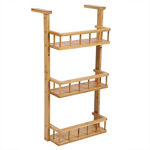 ZHANGYH- Estante De Almacenamiento De Bambú De 3 Capas, Refrigerador De Cocina Multifunción Estante Montado En La Pared Estante De Almacenamiento De Baño Independie Accesorios para muebles decorativos