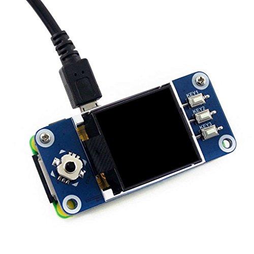 Babysbreath17 128x128 1.44inch LCD Display HAT Board, 1,44 SPI-Erweiterungsplatine für Raspberry Pi Zero/Zero-W/Zero-WH / 2B / 3B / 3B +