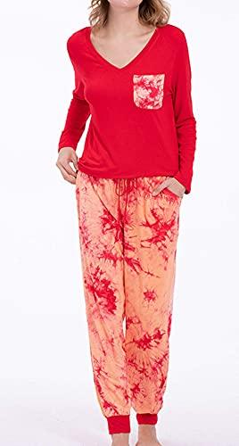 Living Room AccessoriBreve Set Outfits rotondapigiama,set home home casuali pigiama-Big red_XL, Stella Stampabia