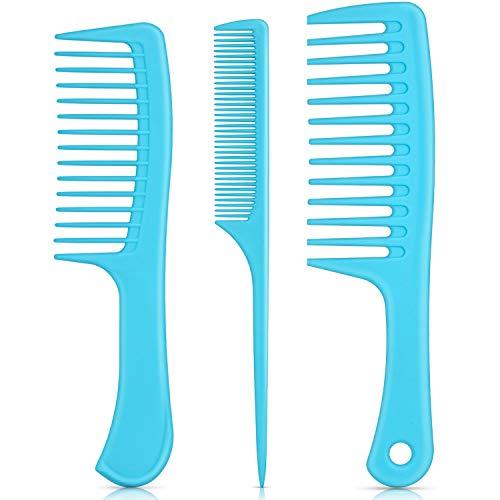 3 peines de pelo con mango ancho, para desenredar peine de cola antiestático para cabello grueso, largo y pelo rizado