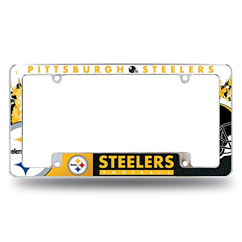 Rico Industries Pittsburgh Steelers All Over Chrome Frame
