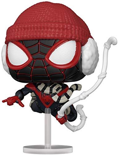 Funko 54692 POP Games: Spider-Man: Miles Morales- Miles (Winter Suit)