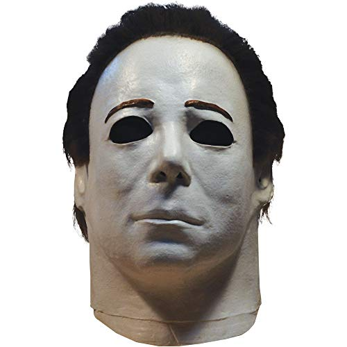 TrickOrTreatStudios Michael Myers Mask - Halloween 4, Halloween Costumes Accessory, for Adults, One Size White
