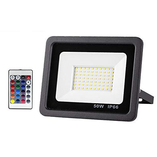 Odoukey Reflector LED de luz de Seguridad llevó el Reflector al Aire Libre 50w Impermeable de la iluminación para el jardín Patio Delantero del Garaje Pared del Patio