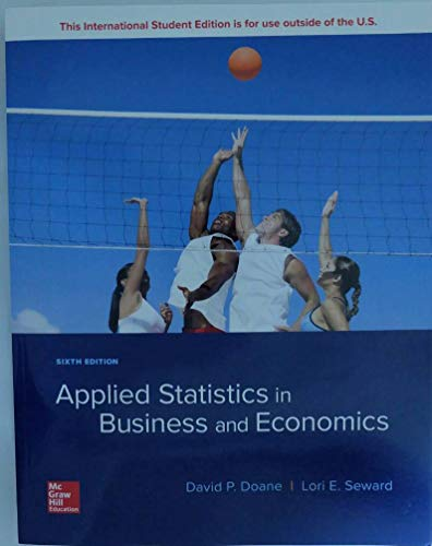 Compare Textbook Prices for Applied Statistics Business Economics 6th edition Edition ISBN 9781260092523 by Doane