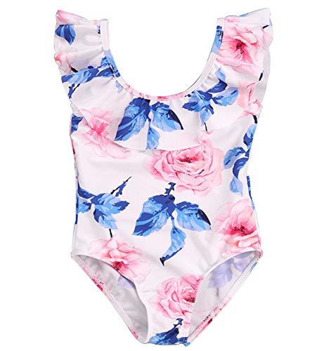 HANHOU Badeanzug Badeanzug Mädchen Kinder Badebekleidung Kinder Off Shoulder Badeanzug Beach Wear Pool Urlaub Schwimmoutfit Rock M Set,M-M