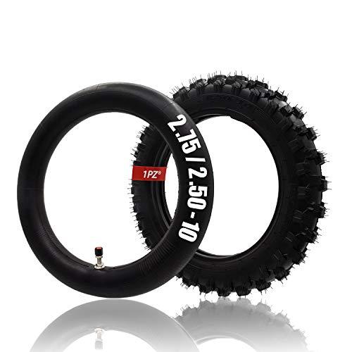 1PZ TB1-25X 2.50-10' Tire & Inner Tube for SDG107 50SX Razor SX500 MX500 MX650 Off Road Motorcycle Motocross Coolster SSR 50cc 70cc 90cc 110cc Mini Dirt Pit Bike