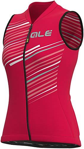 Alé Cycling Solid Flash Ärmelloses Trikot Damen Strawberry Größe S 2021 Radtrikot ärmellos