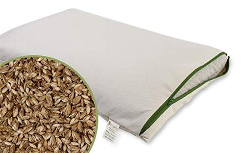 mudis Naturkissen&mehr Bio Dinkelkissen 40x60,Schlafkissen-Zweitkissen,stützend und Atmungsaktiv,Füllung in extra Bio Baumwoll Innennetz,