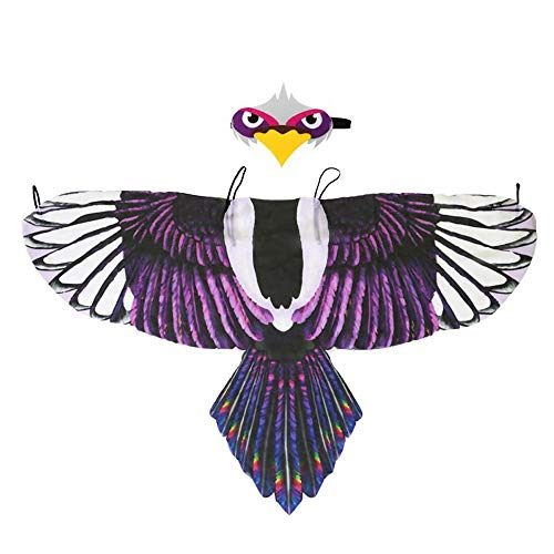 Winthai Divertido simulación pájaro alas Traje con Diadema para niños niños niños niñas Halloween Mascarada rol Juego de Vestir temática Fiesta Estilo a a
