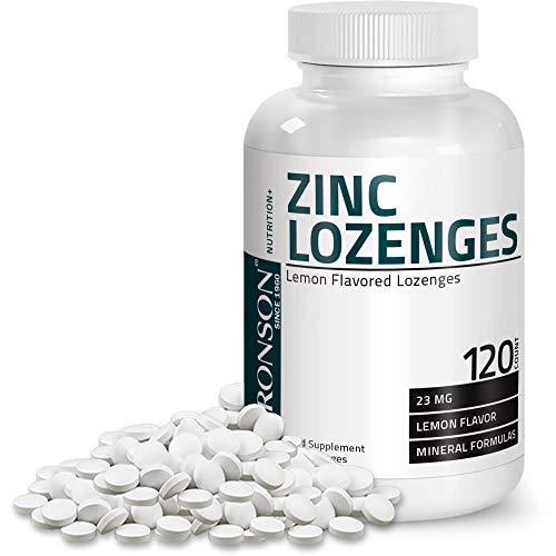 Bronson Zinc Lozenges Supplement Lemon Flavored, 120 Chewable Tablets
