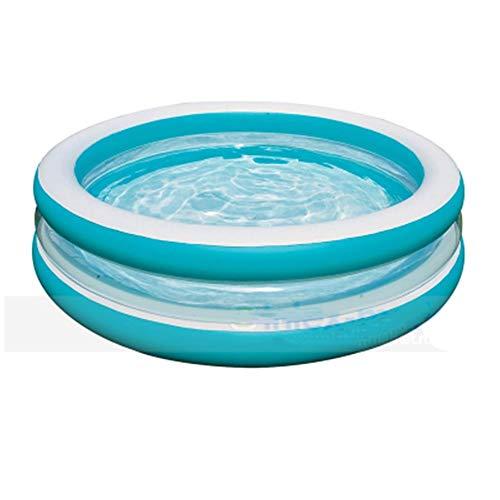 Ronda Transparente Inflable de la Piscina, el Medio Ambiente de PVC Favorable Familia Niños Piscina for niños, Grande Cubierta Océano Ball Pool, 80x20 Pulgadas
