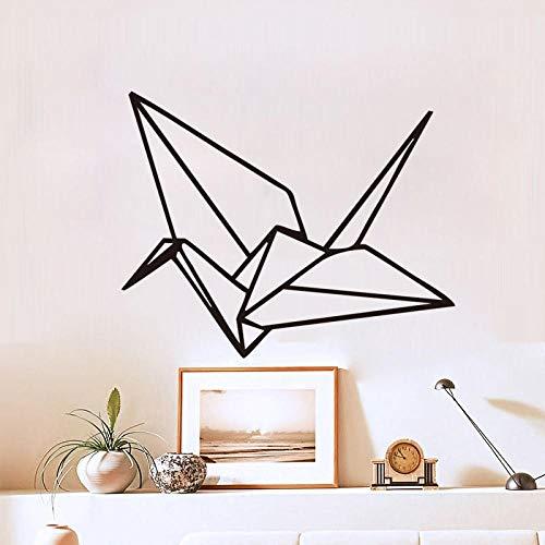 Origami Grullas de papel creativas pegatinas de pared extraíble salón dormitorio decoración pegatinas Ks029 45 * 36 cm