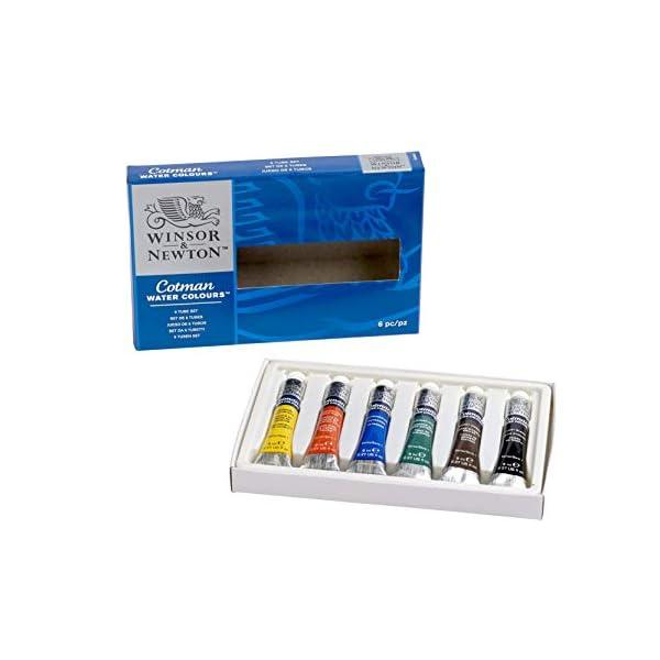 Winsor & Newton Cotman – Juego de tubos de pintura para acuarela (8 ml, 6 unidades)