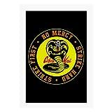 Cloud City 7 Cobra Kai Snake Logo No Mercy A4 Print