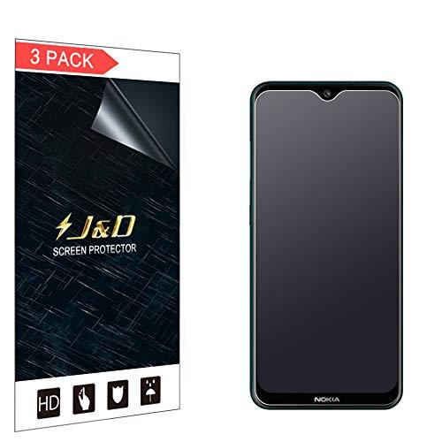 JundD Kompatibel für Nokia 7.2 Schutzfolie, 3-Pack [Antireflektierend] [Nicht Ganze Deckung] [Anti Fingerabdruck] Matte Folie Bildschirmschutzfolie für Nokia 7.2 Bildschirmschutz