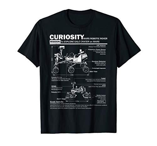 Mars Curiosity Rover NASA t shirt