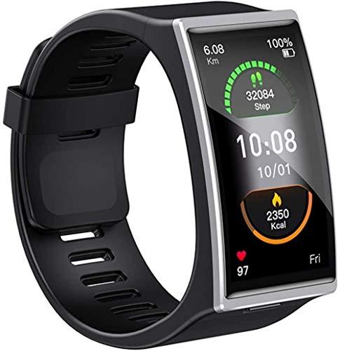 Reloj Inteligente Hombres IP68 Impermeable Bluetooth 5 0 Fitness Pulsera Para Android IOS-Plata