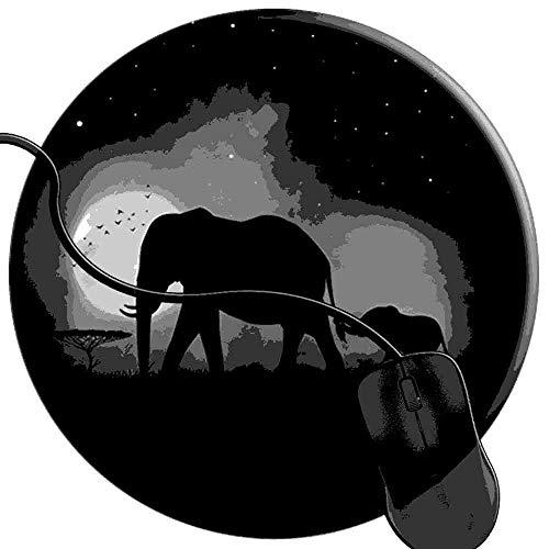 QCFW Tapis de Souris Éléphants dans la Brume Ombres Nuit Cool Mousepad Tapis de Souris Gaming Base en Caoutchouc Antidérapante,Résistant à Usure 2T3164