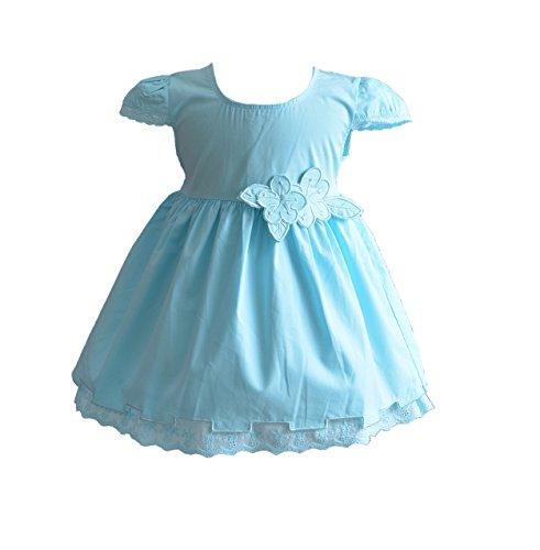Cinda Robe de Coton d'été de bébé Filles Bleu Clair 12-18 Mois