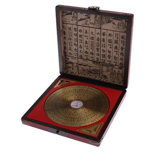 Baoblaze Professionelle Chinese Feng Shui Kompass Luo-Pan mit Schmuckkasten Set