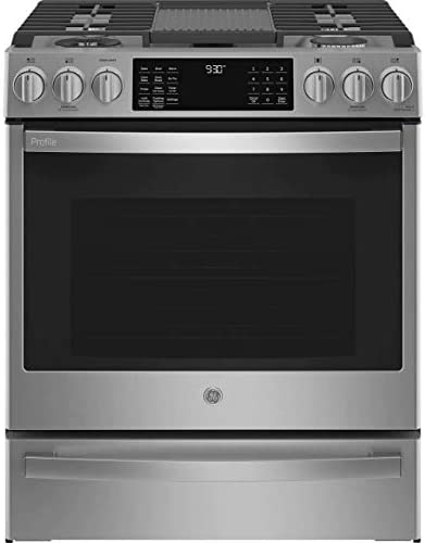 GE Profile PGS930YPFS 30 Smart Slide In Gas Range with 5 Sealed Burners 5 6 Cu Ft True Convection product image