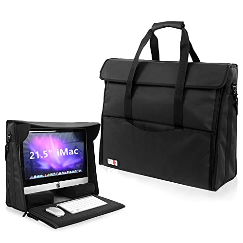 BUBM 21.5' Nylon Carry Tote Bag Compatible with Apple iMac Desktop Computer, Travel Storage Bag for iMac 21.5-inch