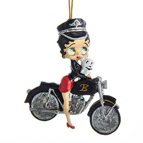 Kurt Adler Betty Boop Betty with Pudgy on Bike Ornament