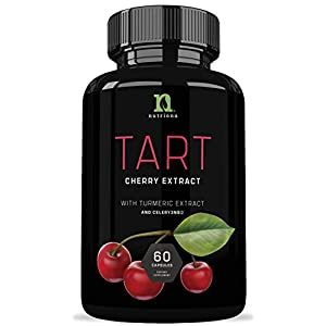 Tart Cherry Capsules with Celery Seed and Turmeric | Tart Cherry Extract 2500 mg | Uric Acid Cleanse Support, Joint Comfort and Muscle Recovery| Benefits of Tart Cherry Juice Concentrate – 60 Capsules
