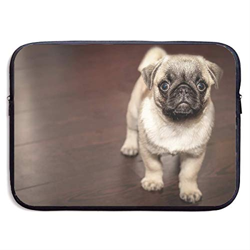 Fashion Computer Liner Sleeve Case Cute Pug Dog Illustration for MacBook Pro/MacBook Air/Asus/Dell,15inch