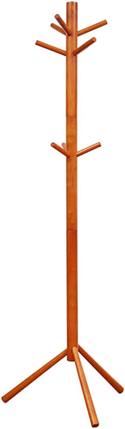 Qi_Hallway Furniture Coat Stand,Coat Hat Rack Free Standing Wood Tree-Shaped Display Coat Stand with Hooks for Clothes Scarves Bags and Hats Standing Coat Racks (color   Honey color)