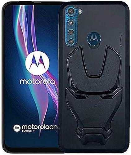ZATX Marvel Avengers Iron Man 360 Degree Full Protection Silicon Back Cover for Motorola One Fusion Plus Black