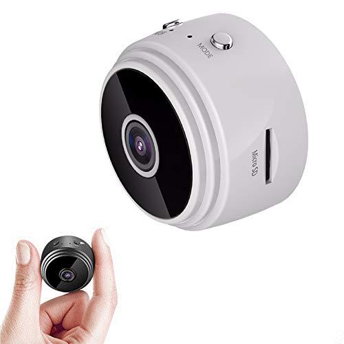 TONG 1080p HD IP Mini Cámara, WiFi inalámbrico Seguridad Control Remoto Vigilancia Visión Nocturna Visión Nocturna Hidden Detección móvil Cámara White
