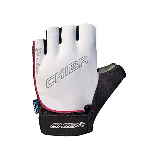 Chiba Damen Handschuh Gel, weiß, XS
