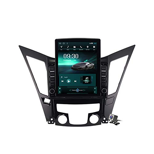 HARBERIDE Android 9.1 Car GPS Navigation Multimedia Radio 9.7 Inch Vertical Screen for Hyundai Sonata 8 2011-2015, Support FM DSP RDS/DVD Player/Bluetooth Steering Wheel Control,Ts200