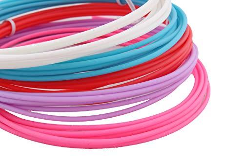 CalmaDragon Filamento para Pluma 3D ABS – 5 Colores, Impresión 3D de Pluma Filamento, Brillando en la oscuridad varios colores