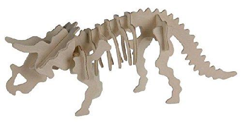 Out of the blue - Puzzle Bois 3D Tricératops – 12 x 30 cm