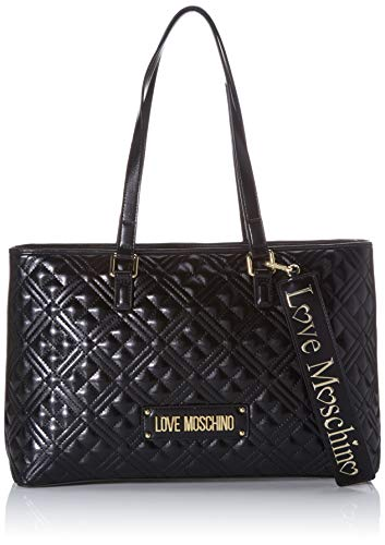 Love Moschino Damen Jc4001pp1a Tote, Schwarz (Nero), 11x25x39 Centimeters