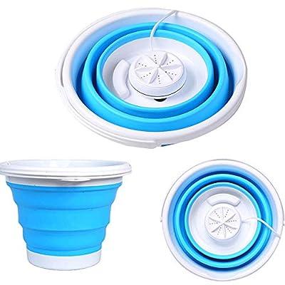 CHXFit Foldable laundry tub portable mini washing machine personal compact ultrasonic turbo rotating washing machine USB powered convenient laundry