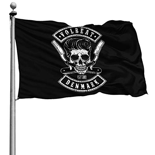 Crayo Politische Flaggen,Dekoration Flagge,Garten Flagge,Willkommensflagge,Volbeat Dekorative Künstliche Flagge,Saisonale Heimatflagge 3X5 Ft