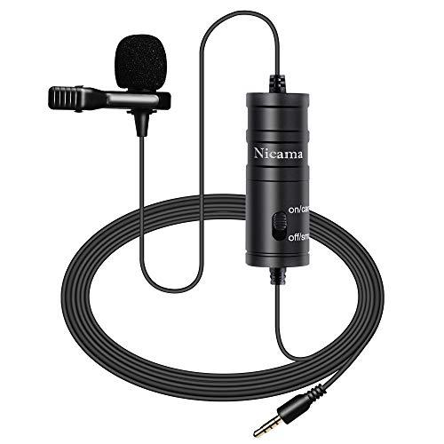 Nicama LVM1 Lavalier Micrófono para iPad Smartphones Canon Nikon DSLR Camcorders Recorder PC Youtube