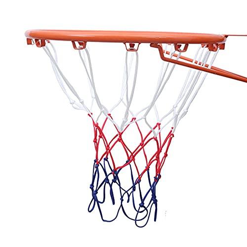 IWILCS 2Pcs Red de Baloncesto Profesional, Red de Baloncesto de 12 Bucle, Malla Estándard para Canasta de Baloncesto, Robusto para Uso Interior y Exterior