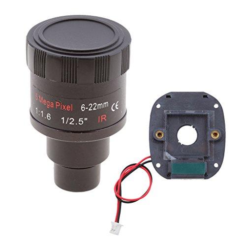 Almencla CCTV Kamera M12 Doppelfilter Umschalter IR Cut + 5MP Vario Infrarot Objektiv