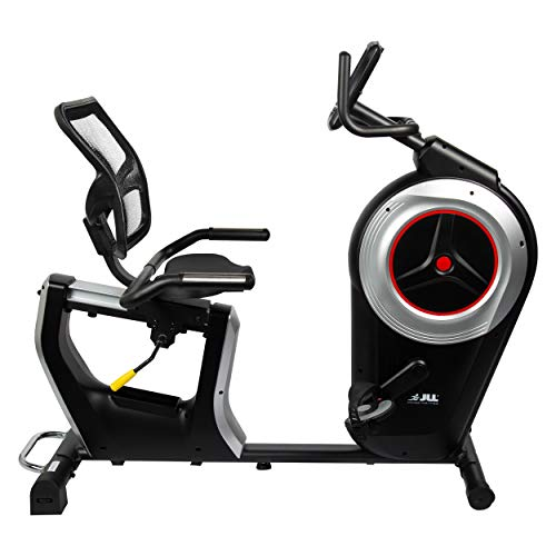 JLL RE600 Pro Recumbent Bike, 6kg One-Way Flywheel with Electronic Magnetic Resistance. Seat Adjustments, Monitor: Time, Speed, Distance, Heart-Rate, Body Fat and Calories. 12 Months Warranty