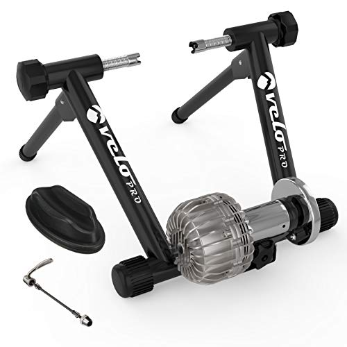 Velo Pro Fluid Turbo Trainer – Quiet Magnetic Indoor Cycle Trainer Stand with Smooth Real Road...